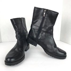 Anne Klein Iflex Black Leather Booties